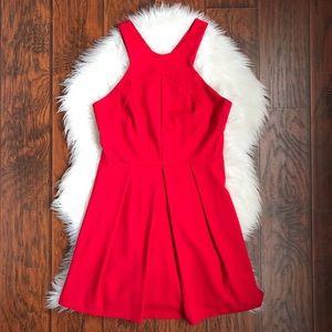 Amanda Uprichard Red Fit & Flare Dress